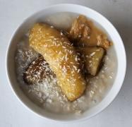 Kreemine kookose-banaanipuder